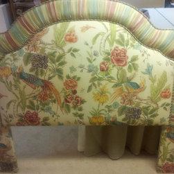 Slipcovers - Upholstered Queen Headboard - Bedroom redesign begins with slipcovering this Headboard
