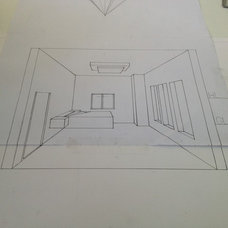 My drawing at the interior design exam in the university #bahrain