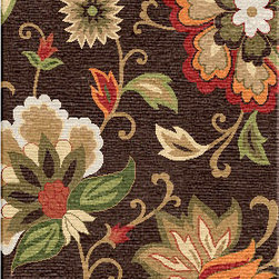 Jaipur Rugs - Hand-Tufted Textured Wool Brown/Red Area Rug (2.6 x 8) - Bright and colorful transitional patterns make a bold statement in your home. Looped construction is durable yet soft.