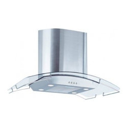 "Air King - Ibiza IBIZ36GL 36"" Island Range Hood with 600 CFM  Aluminum Mesh Filters  Four 5 - Create an infinite highlight and centerpiece for your houses kitchen with the Air King Ibiza Chimney Style Island Mount Range Hood The Air King IBIZ36GL is a 36 range hood that offers high performance kitchen ventilation with a powerful 570 CFM blowe..."