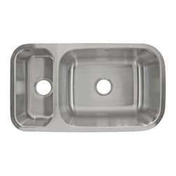 LessCare - Undermount Stainless Steel Double Basin Kitchen Sink L204R/L - *Condition: New