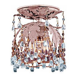 None - Melrose 1-light Blush Flushmount Light - This single flush mount light will make any room stand out from the rest. The light fixture features an exquisite Murano crystal shade, complete with a blushing finish that will add a touch of illuminated elegance to your homes decor.