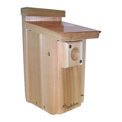 Woodlink - Coppertop Bluebird House - Coppertop Bluebird House. Built to Audubon specifications, each features a 1 9/16 in hole. The Coppertop house is fitted with a hand-crafted 12 oz copper roof. Handcrafted, made of natural cedar, easy to clean, made in the U.S.A.
