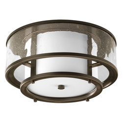 Thomasville Lighting - Thomasville Lighting P3942-20 Bay Court Indoor / Outdoor Flush Mount Ceiling Lig - Rediscover antique Nautical Lanterns with etched glass surrounded by water glass.