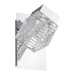 Eglo - Quarto 1-lt LED Ceiling/Wall Light - The clear glass shades of the Quarto vanity fixtures are elegant and marvelously refract their clean LED light. Features:Finish: chrome,Shade: Clear Glass,Lamping: LED,Non-dimmable,Damp location, Mounting: For ceiling or wall application