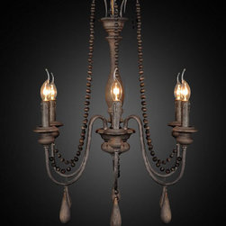 Antique Wood and Rusted Iron Chandelier - http://www.phxlightingshop.com/index.php?main_page=advanced_search_result&search_in_description=1&keyword=10184