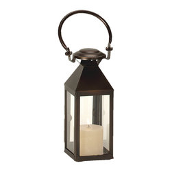 """Riado - Classic Mogador Lantern 11.5"""" BZ - Minimalism! These traditional style lanterns are found all over the luxury homes and hotels and are great to light the entrance, the yard, or simply cluster around the pool, at sunset."""