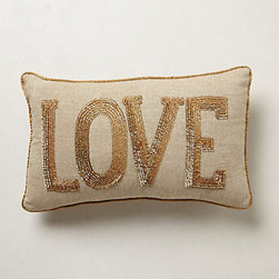 Shimmered Sentiments Pillow, Love - Add a little love. It's always a good idea for any bed or couch.