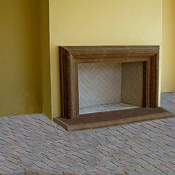 Cast Stone Fireplace Mantel Surround - Classic Mantel Surround. Cast Stone Surround  includes hearth and filler trim if necessary . Shown in a custom color and finish. See website for more colors and textures.