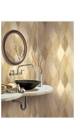 Wallcoverings - Bathroom - Metallics are back! and for good!