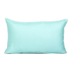 "Blooming Home Decor - Solid Tiffany Blue Accent / Throw Pillow Cover, 12""x20"" - (Available in 16""x16"", 18""x18"", 20""x20"", 24""x24"", 26""x26"", 12""x20"", 20""x54"")"