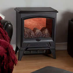 Dimplex - Dimplex Compact Electric Stove Multicolor - CS-12056A - Shop for Stoves (Gas and Electric) from Hayneedle.com! Enjoying the warmth and ambience of a wood-burning stove has never been easier. The Dimplex Compact Electric Stove combines convenience efficiency and classic style all in an affordable compact unit that can be used in any room. Simply plug this stove into any standard outlet and relax as it provides supplemental heating for rooms measuring up to 400 square feet. This stove operates with or without heat so you can enjoy the ambience of lifelike flames during any season. Operates with 1440 Watts 120V 12 Amps 4910 BTU's. Dimensions: 17.4W x 12D x 21.6H inches. Weight 28 lbs. Realistic flameIncredibly lifelike patented flame technology creates the look of a wood fire.Instant ambienceAdd the warm feel of a real fireplace or stove to any living area in just minutes.Safe and clean electric operationNo combustion means no carbon monoxide and the glass stays cool to the touch.Effective heatProvides supplemental heat for up to 400 sq. ft.EconomicalEnjoy the flame for just pennies per hour even with heater turned on.Operates with or without heatEnjoy the flame without the heat for comfortable year-round pleasure.Just plug it inSimply plug into any standard household electrical (120V) outlet switch on and enjoy.No moisture problemsSafe electric operation does not contribute to the concerns that come with some unvented gas products. Does not contribute to indoor moisture mold or ventilation problems. About DimplexDimplex North America Limited is the world leader in electric heating offering a wide range of residential commercial and industrial products. The company's commitment to innovation has fostered outstanding product development and design excellence. Recent innovations include the patented electric flame technology - the company made history in the fireplace industry when it developed and produced the first electric fireplace with a truly realistic wood burning flame effect in 1995. The company has since been granted 87 patents covering various areas of electric flame technology and 37 more are pending.