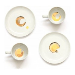 Golden Dirt Cups and Saucers