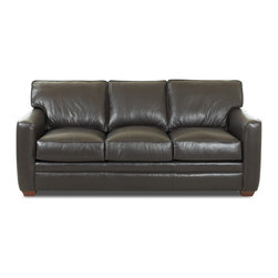 Savvy - Bel-Air Leather Queen Sleeper Sofa, Durango Black, Queen Sleeper, Air Dreamsleep - Bel-Air Leather Queen Sleeper Sofa in Durango Black