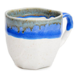 Japanese Boulder Mug, Faceted, White/Blue - I collect handmade mugs so that I can change my breakfast table setting from time to time. If you like to do the same, I recommend this lovely mug by Leif.