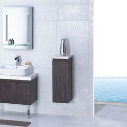 """Livorno - Modern Bathroom Vanity Set 29.5"""" - The Livorno is a contemporary bathroom vanity set that embraces the latest trend in luxury modern bathroom design by choosing to incorporate sophisticated designs and shapes into every bathroom."""
