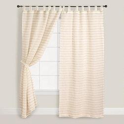 Ivory Striped Sahaj Jute Curtain -