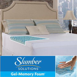 Slumber Solutions - Slumber Solutions Gel Big Bump 3-inch Memory Foam Mattress Topper with Cover - Sooth your back with the comfortable Slumber Solutions memory foam topper. This supportive topper will cool and rejuvenate your body with its three-inch gel padding designed to absorb pressure and remove excessive heat on your full- or twin-sized bed.