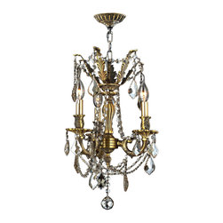 "Worldwide Lighting - Windsor 3 Light Antique Bronze & Golden Teak Crystal Chandelier 13"" D Cast Brass - This stunning 3-light Cast Brass Chandelier only uses the best quality material and workmanship ensuring a beautiful heirloom quality piece. Featuring a solid cast brass frame in Antique Bronze finish and all over clear crystal embellishments made of finely cut premium grade 30% full lead golden teak (translucent champagne color) crystals, this chandelier will give any room sparkle and glamour. Worldwide Lighting Corporation is a privately owned manufacturer of high quality crystal chandeliers, pendants, surface mounts, sconces and custom decorative lighting products for the residential, hospitality and commercial building markets. Our high quality crystals meet all standards of perfection, possessing lead oxide of 30% that is above industry standards and can be seen in prestigious homes, hotels, restaurants, casinos, and churches across the country. Our mission is to enhance your lighting needs with exceptional quality fixtures at a reasonable price."