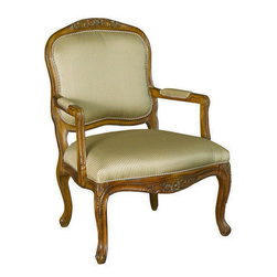 Hammary - Hammary T72184-00 Hidden Treasures Hand-Carved Accent Chair - The Hidden Treasures collection is a fabulous assortment of one-of-a-kind accent pieces inspired by the greatest furniture designs from around the world. Each selection is a true treasure - rich in Old World icons and traditions. All the pieces in this collection are crafted with attention to every detail. From brass nailhead trim and exquisite hand-painting to elegant shaping and decorative trim  every item is a unique work of art. A wide variety of materials is used to create the perfect look and finest quality - from exotic woods  leather and stone to raffia and glass. The huge selection of finishes  hardware  exceptional carvings and other final touches offer unsurpassed versatility for any room in the home. Hidden Treasures includes cocktail tables  occasional and accent pieces  trunks  chests  consoles  wine racks  desks  entertainment units and interesting storage pieces. Place one in a comfortable reading nook... in the family room for flair and variety... in the foyer for a welcome look... in a bedroom for cozy style... or in the office for function and versatility. The pieces in this collection mix beautifully with any decorating style and will easily become the focal point in any setting.