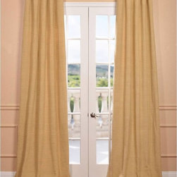 EFF - Lemon Grass Hand-woven Cotton Curtain Panel - The lemon grass hand-woven cotton curtain panel and drapes add a casual and warm look to any window. These drapes are tailored from the finest hand loomed cotton blend.