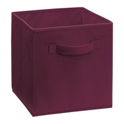 ClosetMaid Cubeicals Fabric Drawer - The stylish Cabernet Fabric Drawer are covered in nonwoven poly propylene. Folds Flat. Many colors.