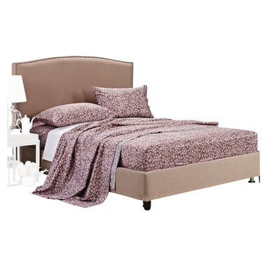 """300 Thread Count Cotton Western Sheet Set - King - The Western Sheet Set features a decorative floral pattern on a purple background. This sheet set brings style and elegance to your bedroom. Luxury at an affordable price! Set includes: (1) Fitted 78""""x80"""", (1) Flat 108""""x102"""", and (2) Pillowcases 20""""x40""""."""