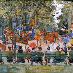 """Maurice Prendergast Central Park - 16"""" x 24"""" Premium Archival Print - 16"""" x 24"""" Maurice Prendergast Central Park premium archival print reproduced to meet museum quality standards. Our museum quality archival prints are produced using high-precision print technology for a more accurate reproduction printed on high quality, heavyweight matte presentation paper with fade-resistant, archival inks. Our progressive business model allows us to offer works of art to you at the best wholesale pricing, significantly less than art gallery prices, affordable to all. This line of artwork is produced with extra white border space (if you choose to have it framed, for your framer to work with to frame properly or utilize a larger mat and/or frame).  We present a comprehensive collection of exceptional art reproductions byMaurice Prendergast."""