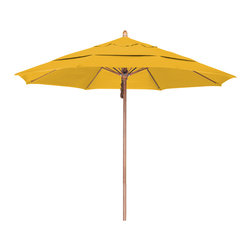 California Umbrella - 11 Foot Pacifica Fabric Pulley Open Wood Market Umbrella - California Umbrella, Inc. has been producing high quality patio umbrellas and frames for over 50-years. The California Umbrella trademark is immediately recognized for its standard in engineering and innovation among all brands in the United States. As a leader in the industry, they strive to provide you with products and service that will satisfy even the most demanding consumers.