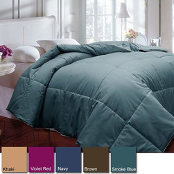 None - Cotton 233 Thread Count Hypoallergenic Down Alternative Comforter - Give your bedroom a new look with this solid-color down alternative comforter. Its filled with hypoallergenic polyester, which will keep you warm and cozy, as well as last for years. Choose from a variety of colors to match your bedrooms decor.