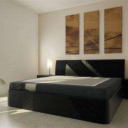 Corzano Dark Oak Storage Bed - CondoBed Company