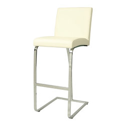 Pastel Furniture - Monaco Barstool - The contemporary Monaco Barstool has a simple yet elegant design that is perfect for any decor. An ideal way to add a touch of modern flair to any dining or entertaining area in your home. This barstool features a quality metal frame with sturdy legs and