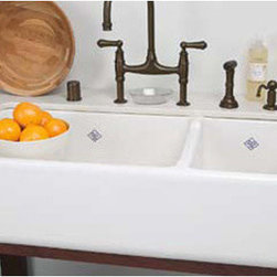 Shaws Rutherford Apron-Front Fireclay Sink, White - No farmhouse kitchen is complete without an apron-front sink.