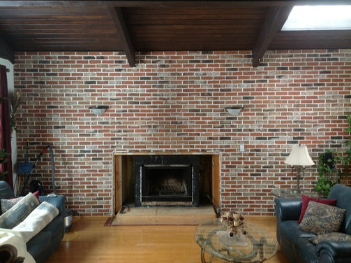 Please help....Fireplace mantle ideas with offset ceiling beams ...