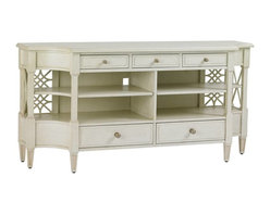 Stanley Furniture - Preserve-Pavillion Media Console - Entertain friends and family with timeless style. The repeating trellis design adds a lovely detail to the Pavillion Media Console.