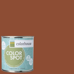 ColorSpot Eggshell Interior Paint Sample, Clay .04,  8-oz - Test color before you paint with the Colorhouse Colorspot 8-oz  paint sample. Made with real paint and in our most popular eggshell finish, Colorhouse paints are 100% acrylic with NO VOCs (volatile organic compounds), NO toxic fumes/HAPs-free, NO reproductive toxins, and NO chemical solvents. Our artist-crafted colors are designed to be easy backdrops for living.