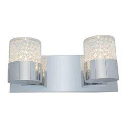 Access Lighting - Access Lighting 51012-CH/CCL Kristal Modern Bathroom Light - Chrome - Access Lighting 51012-CH/CCL Kristal Modern Bathroom Light In Chrome