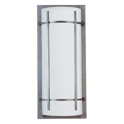 Maxim Lighting - Maxim Lighting 85216WTBM Luna Ee 2 Light Outdoor Wall Lights in Brushed Metal - Luna EE, a contemporary style collection from Maxim Lighting, features both indoor and outdoor sconces, pendants and flush mounts available in three finishes, Brushed Metal, Natural Iron or Oil Rubbed Bronze.