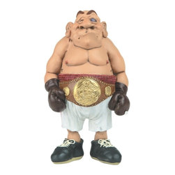 GSC - 6 Inch Whimsical Professional Boxer Figurine with Black Eye and Belt - This gorgeous 6 Inch Whimsical Professional Boxer Figurine with Black Eye and Belt has the finest details and highest quality you will find anywhere! 6 Inch Whimsical Professional Boxer Figurine with Black Eye and Belt is truly remarkable.