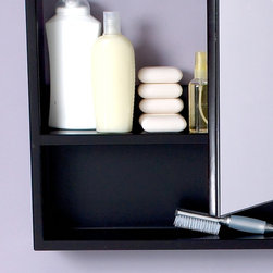 Fresca - Fresca Large Espresso Bathroom Medicine Cabinet w/ Small Bottom Shelf - This Espresso medicine cabinet normally comes with the Infinito vanities (FVN3301ES & FVN3307ES), but can be purchased separately. It features a small bottom shelf and a mirrored medicine cabinet. For something slightly smaller, check out the FMC6124ES.