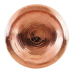 Achla Designs Hammered Copper Bowl with Rim - I love to open the windows on nice mornings, and hearing the birds singing is the best part. I'd love to let them take baths in style in this beautiful hammered copper bowl.