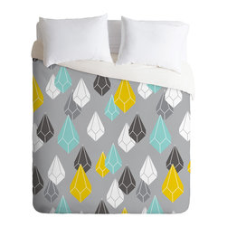 DENY Designs - Heather Dutton Raining Gems Whisper Duvet Cover - Turn your basic, boring down comforter into the super stylish focal point of your bedroom. Our Luxe Duvet is made from a heavy-weight luxurious woven polyester with a 50% cotton/50% polyester cream bottom. It also includes a hidden zipper with interior corner ties to secure your comforter. it's comfy, fade-resistant, and custom printed for each and every customer.