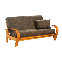 Night & Day Furniture - Night and Day Montreal Futon Frame - No Drawers - Montreal; imagine, after a full day of chasing that puck across the ice, what better place to chill (Note to self: May be a bad choice of word) than on our cozy corner of comfort. Be a biscuit in our basket. Our standard collection wood futon frames are built to last. These prime quality frames are made from the finest plantation grown materials and are constructed with traditional woodworking good sense. A broad range of products in a variety of handsome finishes makes the standard collection a smart choice for your home. All standard collection items come with a limited 10 year warranty.
