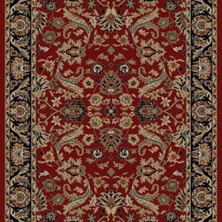 "Concord Global - Red Ankara Sultanabad Area 2'2"" x 7'3"" Runner Rug Concord Global - The Ankara collection is made of heavy heat-set olefin and has the look and feel of an authentic hand made rug at a fraction of the cost. New additions to the line include transitional patterns that are up to date in the current fashion trend. Made in Turkey"