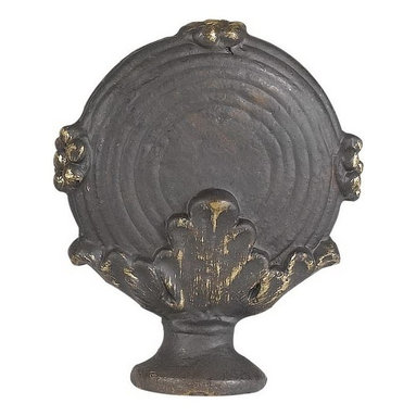 Cal Lighting - Round Metal Cast Finial - Metal cast finial. Height: 2.38 in.. Base: 2 in.