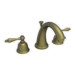 """Newport Brass - Newport Brass 800C Annabella Double Handle Widespread Lavatory Faucet - Annabella Double Handle Low Lead Widespread Lavatory Faucet with Metal Lever HandlesThe traditional look of the Annabella Collection from Newport Brass is a beautiful addition to any whether you want to give it a minor facelift or a major upgrade. Newport Brass lavatory faucets are available in several different styles with 25 unique finish options. Every Newport Brass bathroom faucet is CA/VT low lead compliant and WaterSense certified. Solid brass construction and ceramic disc cartridges ensure that your Newport Brass bath faucet will last the test of time. You will see why Newport Brass boasts Flawless Beauty from Faucet to FinishFeatures:Double handle lavatory faucetADA compliant lever handlesBrass Valve Bodies. Valve Included.Quarter-turn washerless ceramic disc valve cartridgesPop-up drain with tail pieceCA/VT Low lead compliantWaterSense CertifiedSolid brassReadyship Available Finishes - Finishes guaranteed to be in stock by Newport BrassForever BrassFinish Features:Available in 25 beautiful finishesNew Industry Leading lacquer Finish ProcessIAPMO Certified and testedLong Life Finishes - 10 Year WarrantyDurable, color protected, scratch resistantGreen, low VOC, energy efficient finishing processSpecifications:Handle type : Metal lever handlesHandles Included : YesLow Lead Compliant : YesWaterSense Certified : YesCenters : 8""""Material : Solid Brass"""