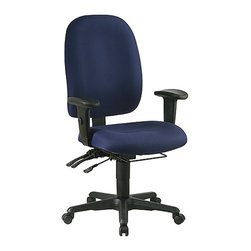 Office Star - Office Star Dual Function Ergonomic Office Chair with Seat Slider-Icon-Black - Office Star - Office Chairs - 43998231 - Elegance and professionalism come to the office with the Office Star Desk Office Chair. The contour molded seat and back with built-in lumbar support ensures comfort and good posture. So get the job done on time in comfort with the Desk Office Chair.