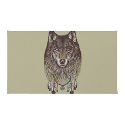 """Inova Team - Contemporary Wolf Rug, 36x24 - Using 100% Woven Polyester, these premium quality area rugs boast an exceptionally soft touch and high durability. Available in three versatile sizes (36""""x24"""", 60""""x36"""", 72""""x48"""") they are the perfect accent to any room in your home, featuring thousands of designs from your favorite artists on a subtle chevron pattern. Machine washable; non-skid pad not included."""