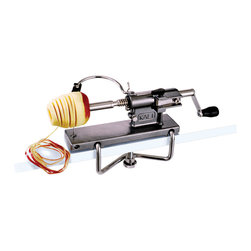 """Paderno World Cuisine - Spare Stainless Steel Bow for Kali Apple Peeler - This Paderno World Cuisine spare stainless steel bow is for the kali apple peeler, which is item 49834-00.; Professional Quality; Sold separately; For use with the kali apple peeler; Heavy duty; Takes 15-second to prepare an apple or pear; Weight: 0.1 lb; Made in France; Dimensions: 8.0""""H x 8.0""""L x 6.0""""W"""