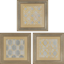 Paragon Decor - Patterned Perfection Set of 3 Artwork - Exclusive Hand Painted on Fine Art Paper